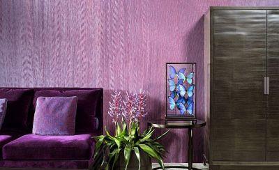 stofftapete tapeten aus edlen stoffen f r mehr wohnlichkeit. Black Bedroom Furniture Sets. Home Design Ideas