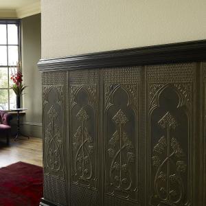 feine tapeten aus linoleum hnlichen material nicht nur f r k nige. Black Bedroom Furniture Sets. Home Design Ideas