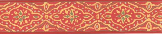 Selbstklebende Bordüre Rot 3511-01