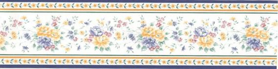 self-adhesive border with flowers 3526-01