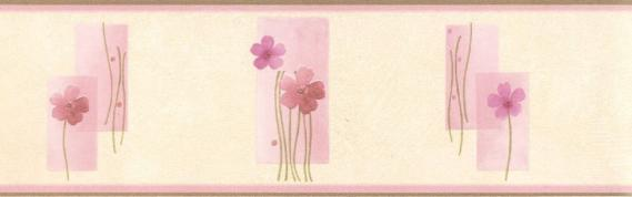 Self-adhesive border with flower pattern 3536-03