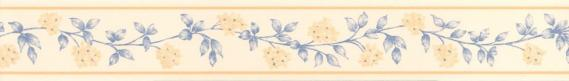 Self-adhesive border with flowers cirrus 3561-02