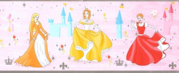 Self-adhesive border with princesses 3585-01