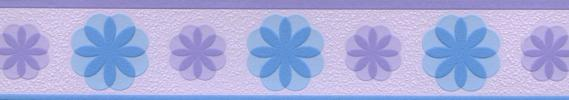 Self-adhesive border in blue-violet 5552-29