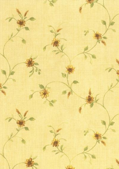 country house wallpaper with flowers 1517