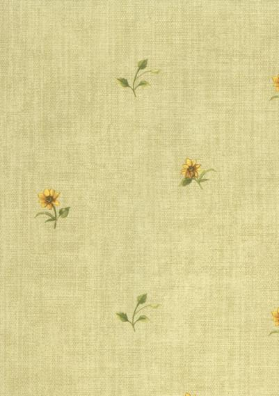 country house wallpaper with flowers 1519