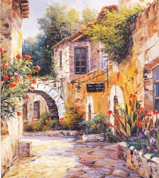 Mural Street in Provence EV1343