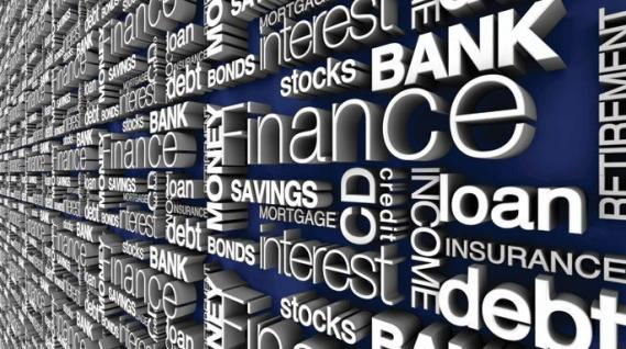 Mural Financial Words EV1388