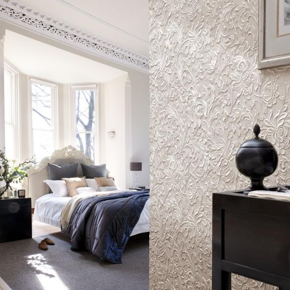 hochwertige tapeten und stoffe lincrusta kelmscott. Black Bedroom Furniture Sets. Home Design Ideas