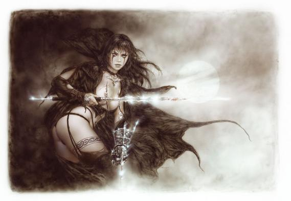 Fototapete Luis Royo The Five Faces of Hecate 1,40m x 0,96m