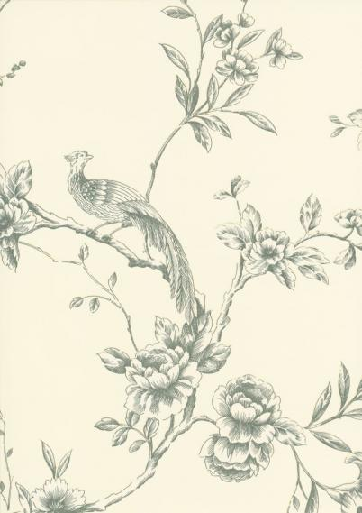 embossing wallpaper with birds 612805