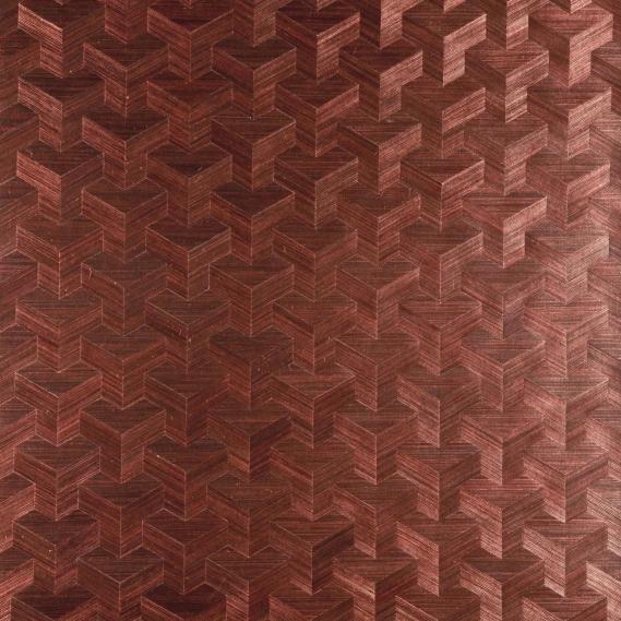 hochwertige tapeten und stoffe vlies sisal tapete cube dunkelrot 49001 kollektion heliodor. Black Bedroom Furniture Sets. Home Design Ideas