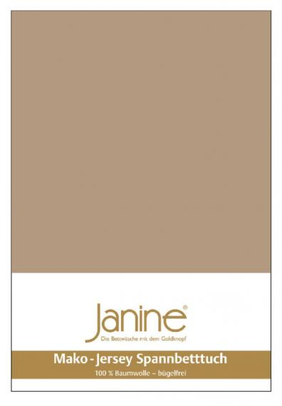 stretch bed sheet jersey light brown 5007-37