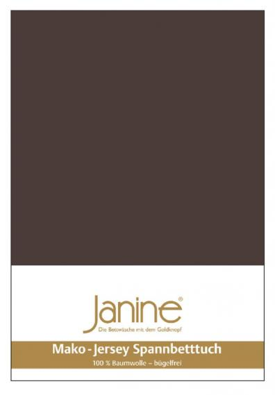 stretch bed sheet jersey dark brown 5007-87-2 150/200