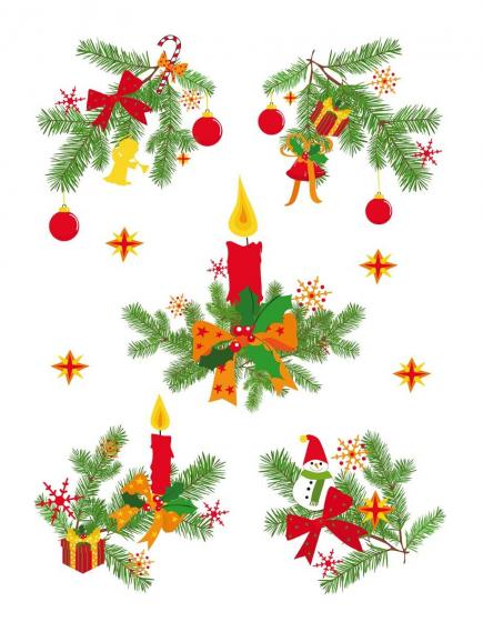 static sticker with christmas motifs 350-0155