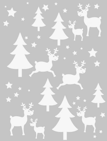 static sticker with christmas motifs 350-0158