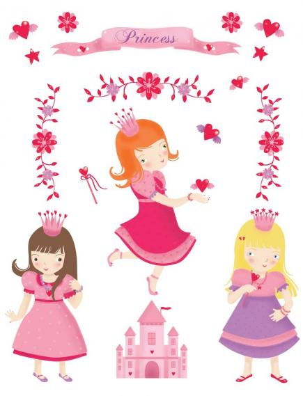 sticker for little princesses 350-0181