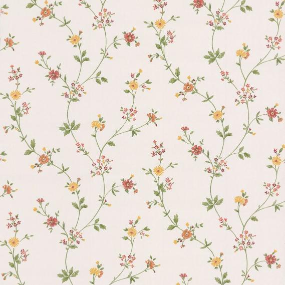 Flachvinyltapete mit Blütenranken 49220