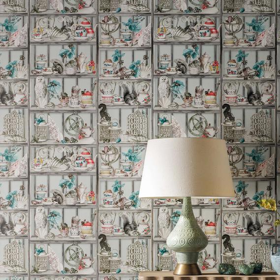 hochwertige tapeten und stoffe vliestapete enchanted gardens osborne little w7028 01. Black Bedroom Furniture Sets. Home Design Ideas