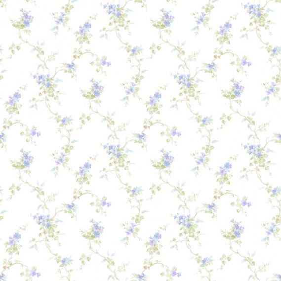 Hochwertige tapeten und stoffe landhaustapete pretty for Tapete taubenblau