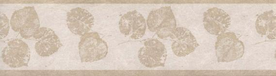 Non-woven border with leaves 677N03