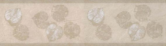 Non-woven border with leaves 677N06