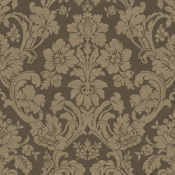 hochwertige tapeten und stoffe vliestapete savile row ornamente braun gold 100538 decowunder. Black Bedroom Furniture Sets. Home Design Ideas