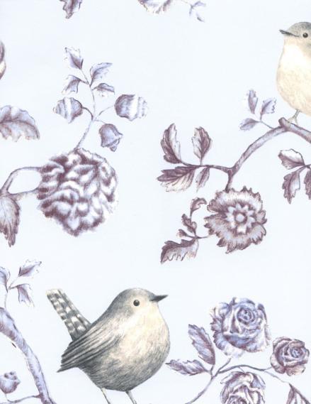 hochwertige tapeten und stoffe vliestapete v gel blumen hellblau 310023 un bisou eijffinger. Black Bedroom Furniture Sets. Home Design Ideas