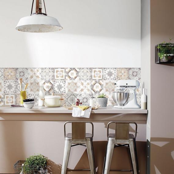 Hochwertige tapeten und stoffe wandbild selbstklebend for Wandbild küche