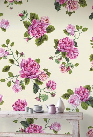 hochwertige tapeten und stoffe vlies wandbild rosen wei. Black Bedroom Furniture Sets. Home Design Ideas
