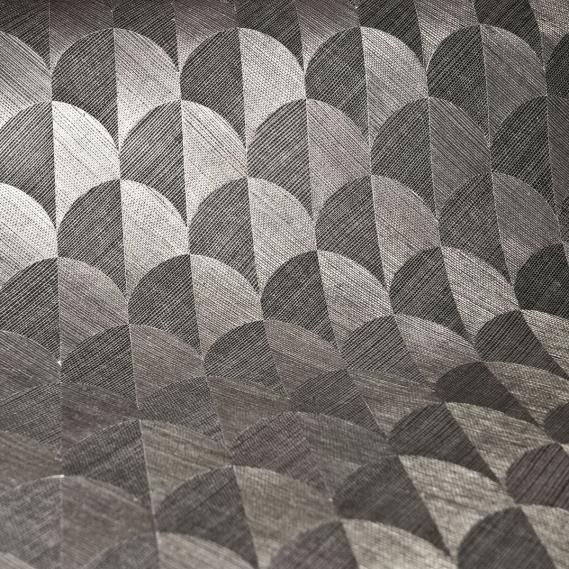 Decowunder Tapetenshop - Vlies Sisal Tapete Scale Silber-Grau