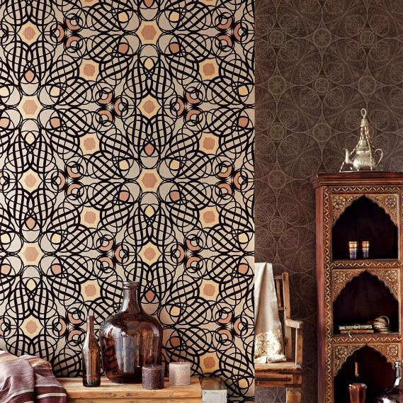hochwertige tapeten und stoffe vliestapete eijffinger yasmin 341754 decowunder. Black Bedroom Furniture Sets. Home Design Ideas