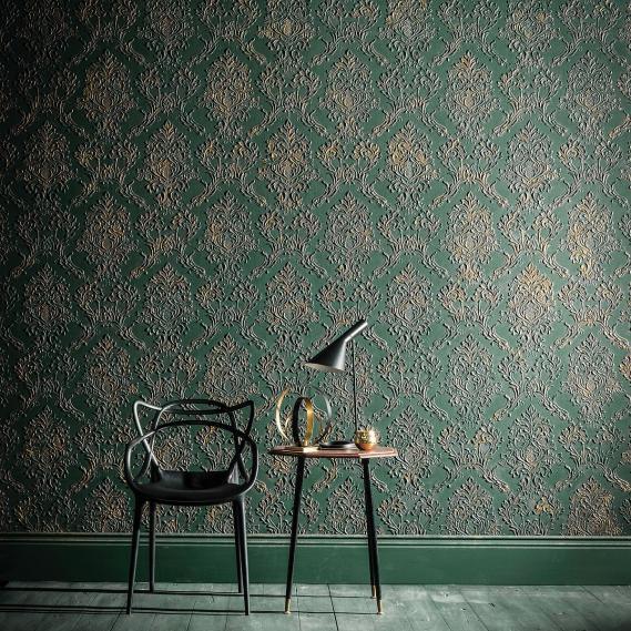 hochwertige tapeten und stoffe lincrusta rocco rd1969. Black Bedroom Furniture Sets. Home Design Ideas