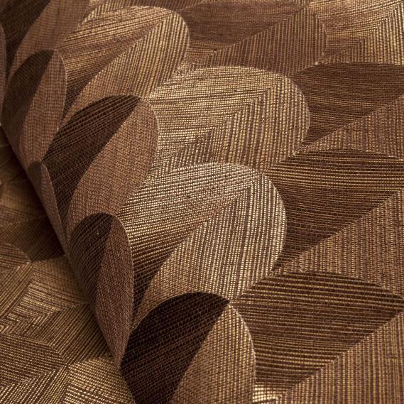 Hochwertige tapeten und stoffe vlies sisal tapete scale for Tapete gold braun