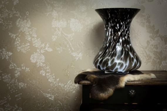 hochwertige tapeten und stoffe vlies acryl tapete mit perlfarbglanzpigmenten 300002 decowunder. Black Bedroom Furniture Sets. Home Design Ideas