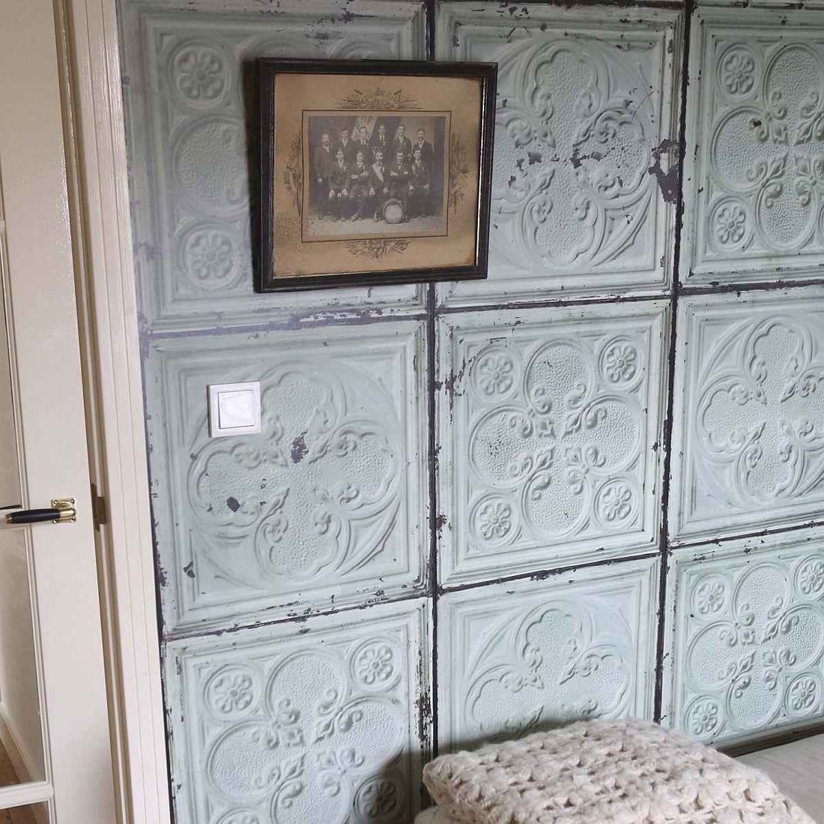 decowunder tapetenshop vintage tapete digitaldruck merci tin 05 brooklin tins paris. Black Bedroom Furniture Sets. Home Design Ideas