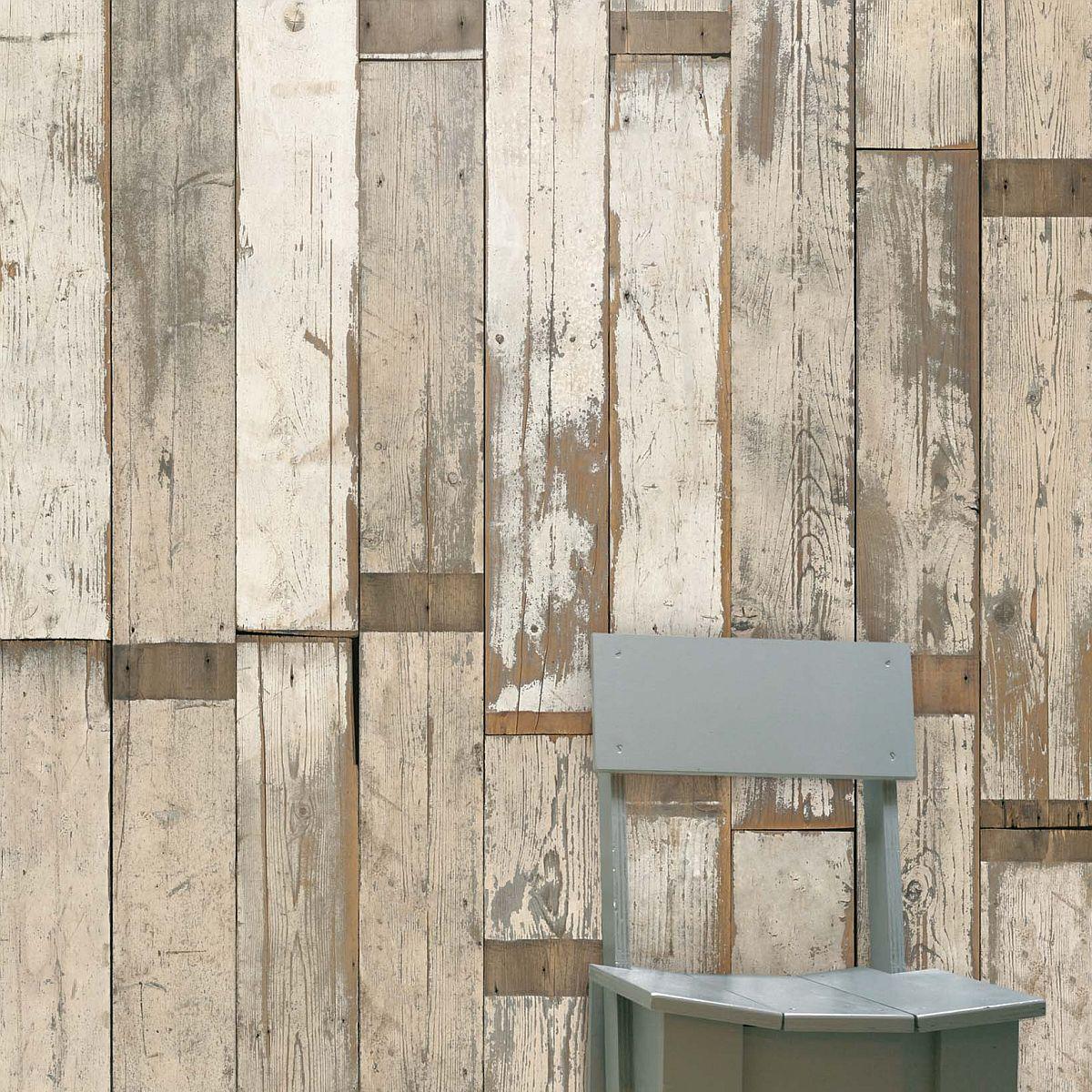 decowunder tapeten vintage tapete digitaldruck bretter phe 02 scrapwood wallpaper von piet. Black Bedroom Furniture Sets. Home Design Ideas