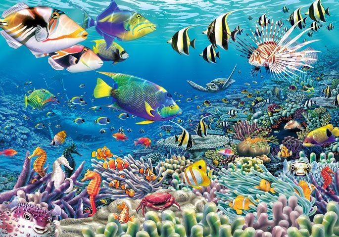 Fototapete kinderzimmer unterwasserwelt  Hochwertige Tapeten und Stoffe - Fototapete Unterwasser-Garten ...