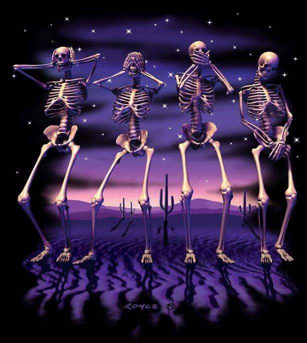 Tapeten Bord?ren Schlafzimmer : Decowunder Tapeten Fototapete Skelette EV1354 g?nstig online kaufen