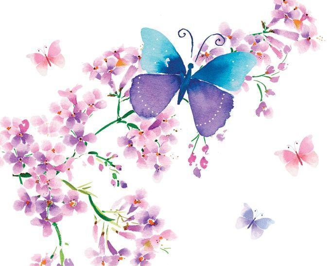 Hochwertige tapeten und stoffe fototapete schmetterling - Wandtapeten lila ...