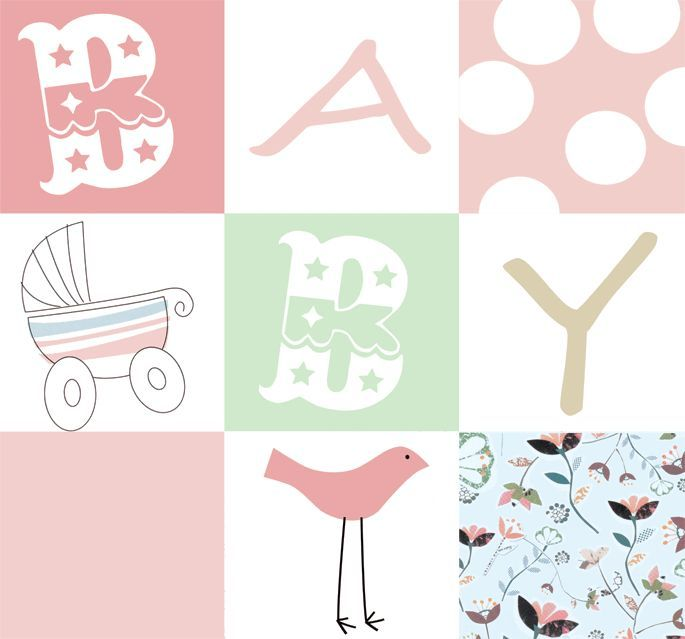 Fototapeten Jugendzimmer M?dchen : Baby Girl Fabric Panel Fishing