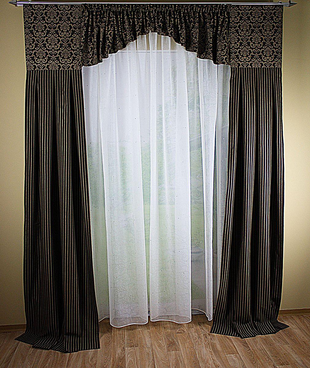 hochwertige tapeten und stoffe fensterdeko mit 2 schals. Black Bedroom Furniture Sets. Home Design Ideas