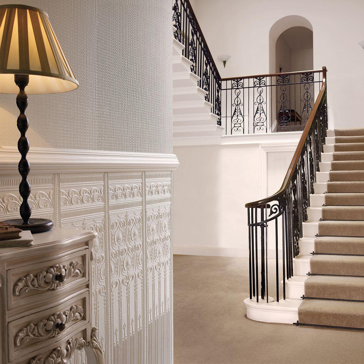 hochwertige tapeten und stoffe lincrusta edwardian dado. Black Bedroom Furniture Sets. Home Design Ideas