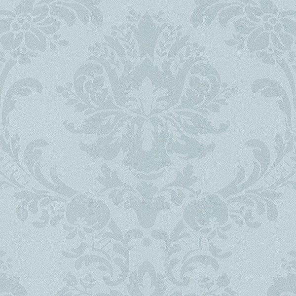Hochwertige tapeten und stoffe satintapete mit for Tapete taubenblau
