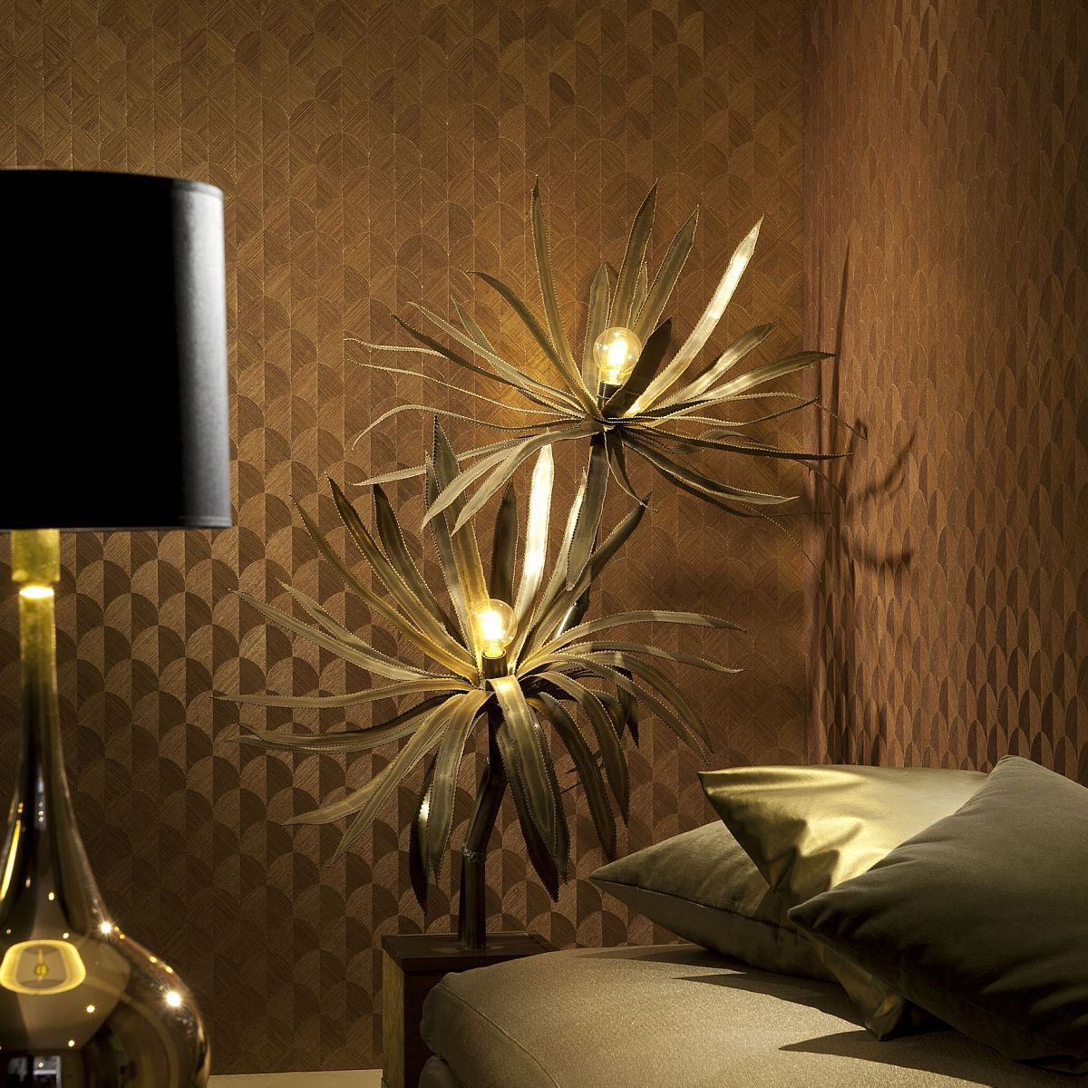 high quality wallpapers and fabrics non woven sisal wallpaper scale gold brown 49100. Black Bedroom Furniture Sets. Home Design Ideas