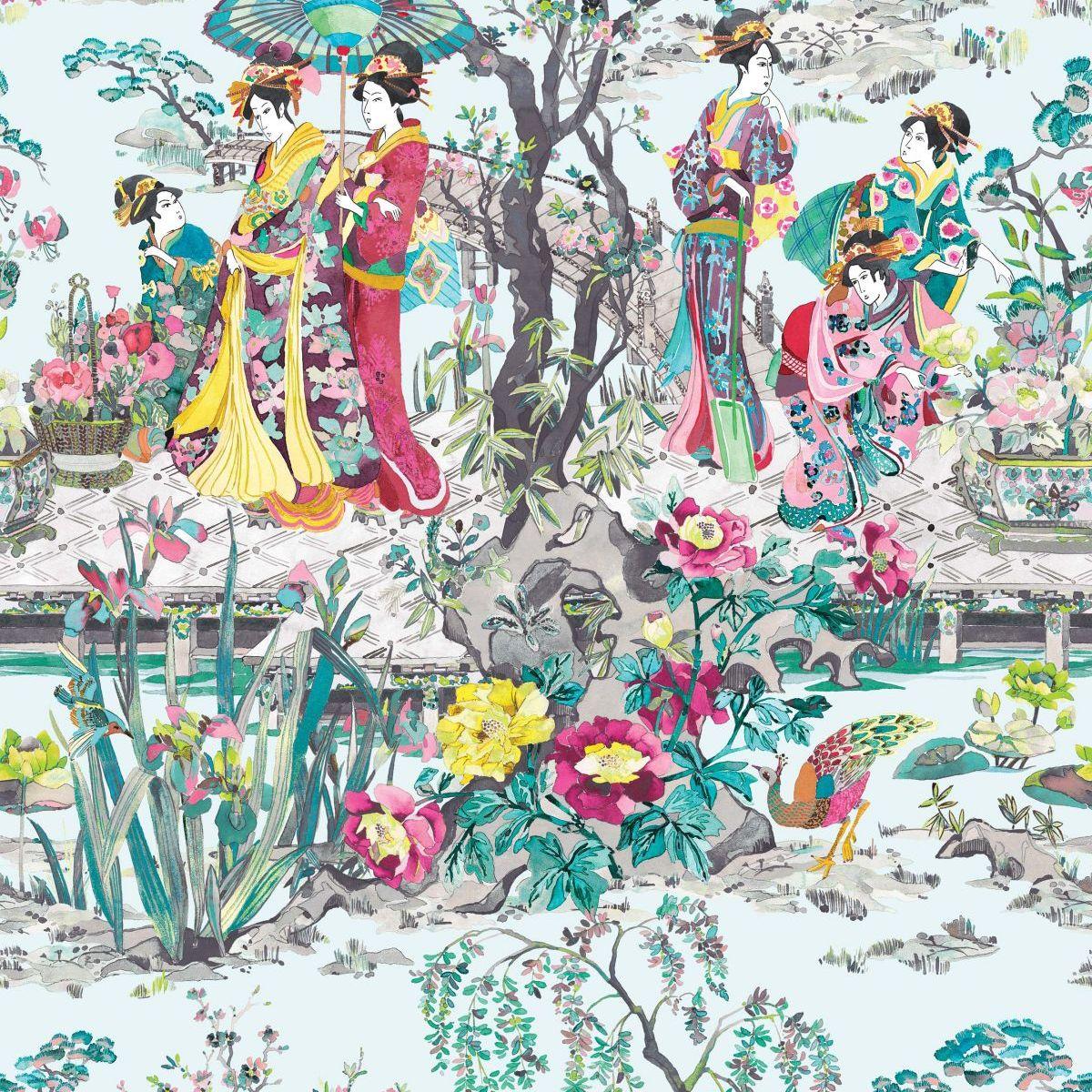 hochwertige tapeten und stoffe vliestapete enchanted gardens osborne little w7024 02. Black Bedroom Furniture Sets. Home Design Ideas