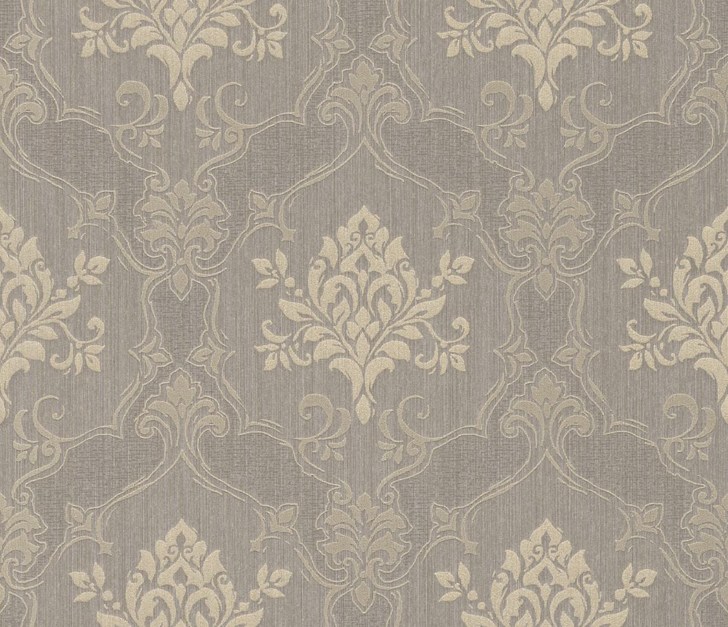 hochwertige tapeten und stoffe tapete mit klassischem barockmuster 073491 decowunder. Black Bedroom Furniture Sets. Home Design Ideas