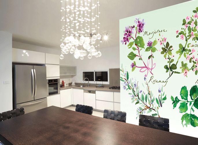 hochwertige tapeten und stoffe fototapete kr uter ev1370 decowunder. Black Bedroom Furniture Sets. Home Design Ideas