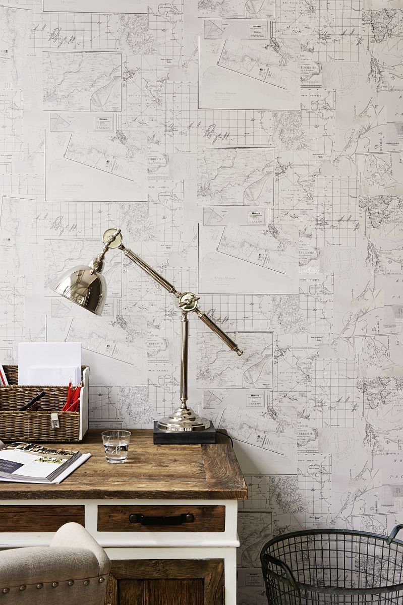 hochwertige tapeten und stoffe b n wallcoverings vliestapete riviera maison 18271 decowunder. Black Bedroom Furniture Sets. Home Design Ideas